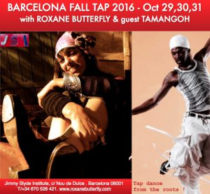 Barcelona Fall Tap Intensives 2016 with Roxane Butterfly