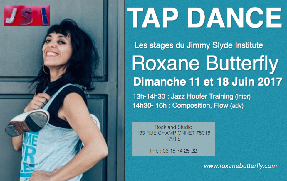 stage de tap dance avec Roxane Butterfly